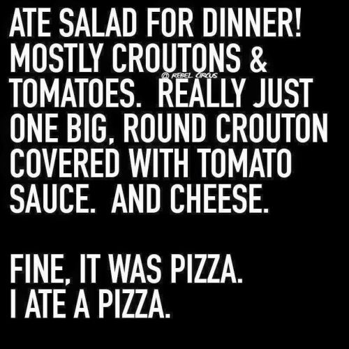 Salad as Pizza