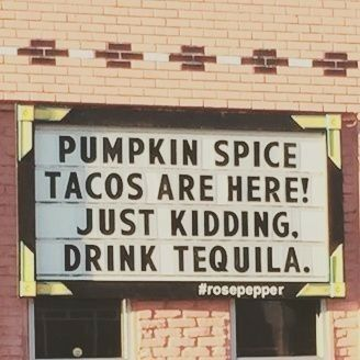 Pumpkin Spice Tacos